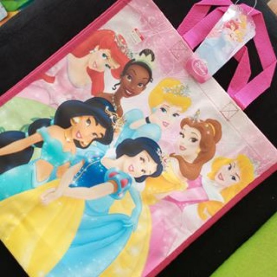 Jumbo Large Reusable Non woven party Tote bags- Pooh, Princess