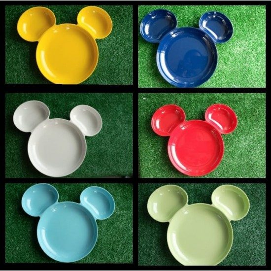 Disney Lilfant Mickey Head Shaped Plate- 6 colours