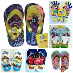 Kids Graphic Flip flops- Assorted