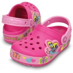Crocs CrocsLights Girls Butterfly Clog- Size 10