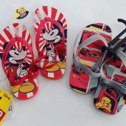 Disney flip-flops with Elastic straps.  Size 25, 26