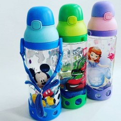 Cute Cartoon Straw Waterbottles- assorted characters