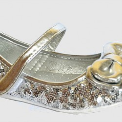 Bear Girls Silver Sequin Dressy Flats- Size 25, 29, 30