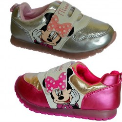 Cute Minnie Mouse Lighted Girls Sneakers- Size 23, 24, 27, 28