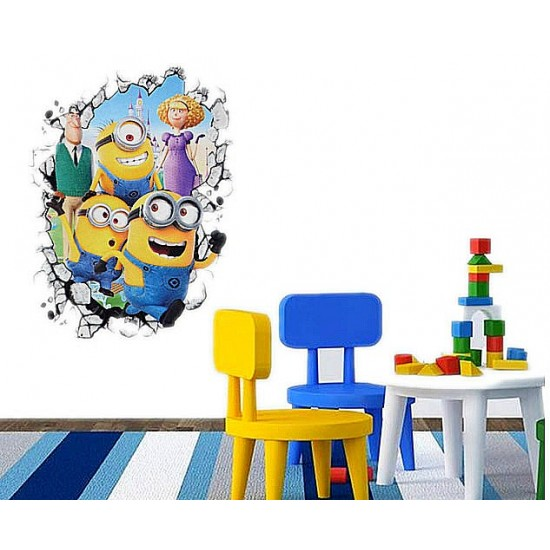 Cartoon 5D Large Fashion Wall Sticker/Decals- 16 designs available
