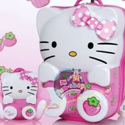 3d Hello Kitty 20inches trolley and backpack set