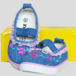Girls Denim Maryjane Sneakers- Size 23-28