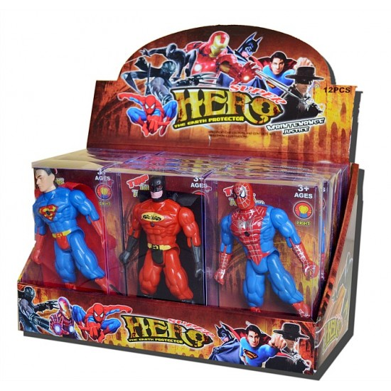Mini Boxed Super Heroes Figure with Light - assorted