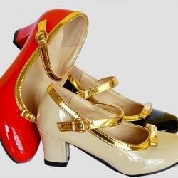 Barbie Girls Fashion Patent Pumps- 3 colours Size 30-37