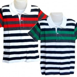 Boys Stripe Polo Tees (5-8yrs)- 2 colours