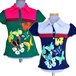 H&M Girls Butterfly Polo Tee- 2-6yrs