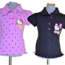 Hello Kitty Girls Polka dot Polo Tees (2-8years)