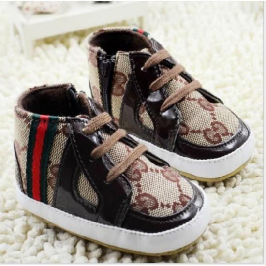 Gucci baby Boys Hi-top Prewalkers- 0-9mths