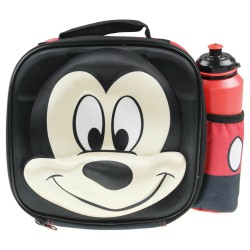 Mickey Mouse 3D Thermal Insulated Kids School Lunch Bag With Bottle Drink Set