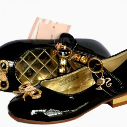 Barbie Princess Black Occassion Shoes - Size 25-29