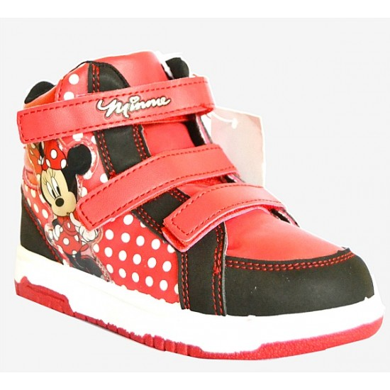 Minnie Mouse Girls Hi-top Sneakers- Size 27