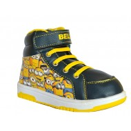 Minions Boys Hi-Top Sneakers- EUR SIZE 27