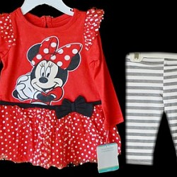 Disney Minnie Mouse 2 piece leggings set (6-9mths)