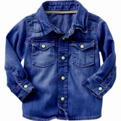 Baby Gap baby boys Double pocket Denim Shirts (12-18mths)