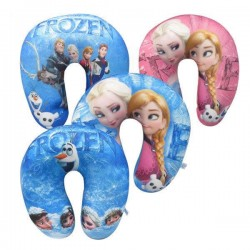 Kids Character U-Shaped Micro-beads Travel Pillow- assorted characters- Frozen, Spiderman, Princess, Minions