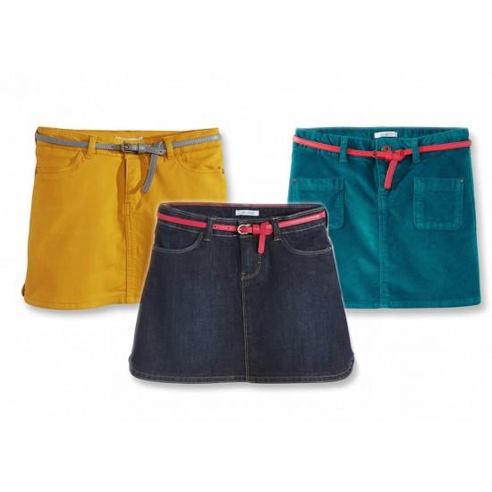 Okaidi Girls Short belted Skirts- 6-10yrs