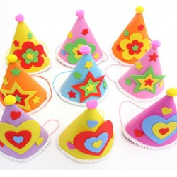Lovely Birthday EVA Foam Party Hats- assorted colours