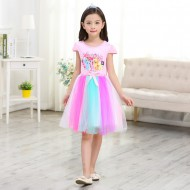 Frozen Princess Party Rainbow Tutu Dress 3-5yrs