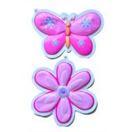 Kids Room Decor- 2 Bubble Wall hangings- Butterfly