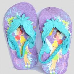 Disney fairies Girls Elastic Flip flops Sandals- US 5, 7, 11
