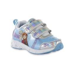 Disney Baby Toddler Girls' Frozen Blue/Silver Sneaker- Original Licensed - Size US 9, 11