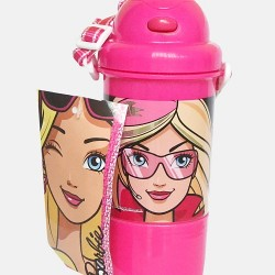 Barbie Sipper water Bottle with Cup and Carry rope