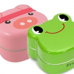 Animal Faces Bento Double Deck Lunch Buddies- Pig