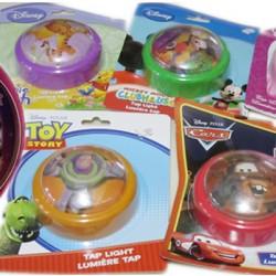 Disney Kids Room Push Light- assorted characters
