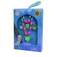Disney Frozen Girl's Bracelet, Necklace & 2 Rings