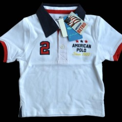Juniors American Retro Boys Polo Tee- 12-18mths, 2-3yrs