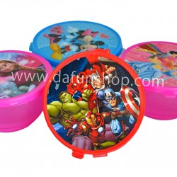 Character Plastic Bowls with Lids- assorted- pack of 6
