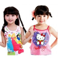 Cartoon Girls Underwear vests- Age 2-6yrs- assorted characters