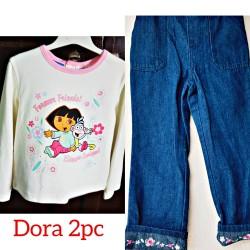 Dora the Explorer long sleeve Tee & denim jeans (18mths- 4T)