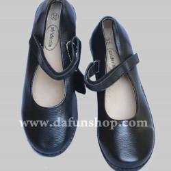 Stride rite Girls Black School shoes- EUR size 32