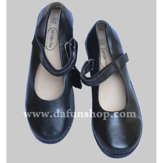 Stride rite Girls Black School shoes