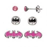 DC Comics Batgirl Kids'  3 Stud Earring & Keepsake Jewelry Box Set