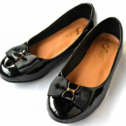 Bibas Girls Dressy Flats- Bow design (size 26-35)