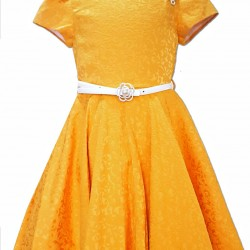 AngeloKids Mustard Special Occassion Dress (7-11years)