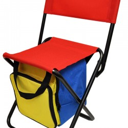 Kid's Folding Picnic Chair With Cooler Bag and 5pc Picnic Set