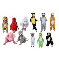 Assorted Kids Animal Costumes- 2-8yrs