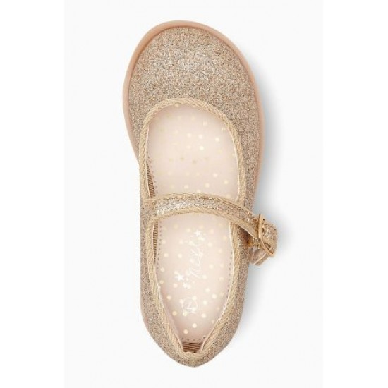 NEXT Gold Glitter Girls shoes- UK 8