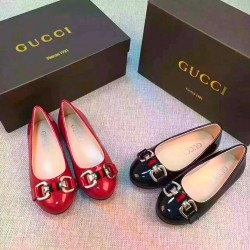Gucci Girls Patent Dressy Flats- Red or Black (size 25-35)