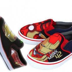 Boys Marvel Iron-man Slip On Canvas - Size 30