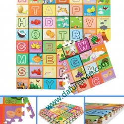 4pc Large EVA Baby Alphabet Mat Foam Puzzle