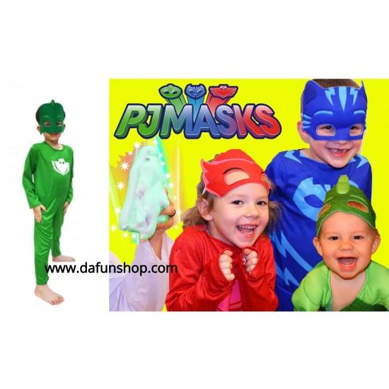 Pj Masks Halloween Costume.Pj Masks Gecko Classic Child Halloween Costume 6 7yrs L Only